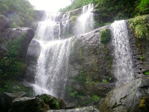 ユツン3段の滝、水量の多いとき